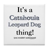 Catahoula Thing Tile Coaster