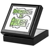 Green Honeymoon Aruba Keepsake Box