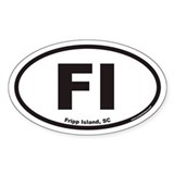 Fripp Island FI Euro Oval Decal