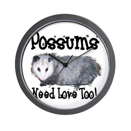 Possums Need Love Wall Clock