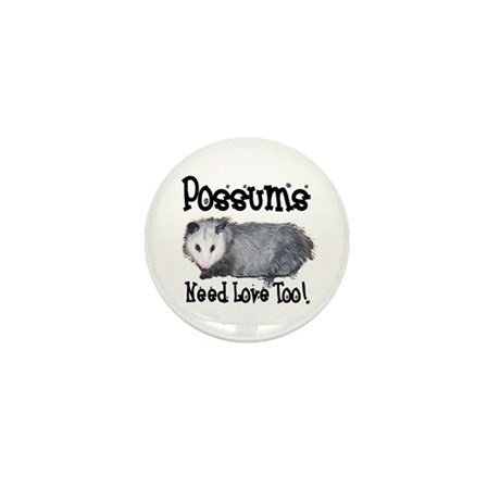Possums Need Love Mini Button (100 pack)