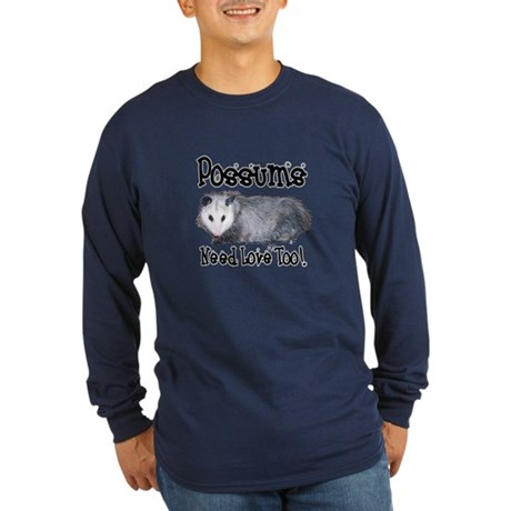 Possums Need Love Long Sleeve Dark T-Shirt