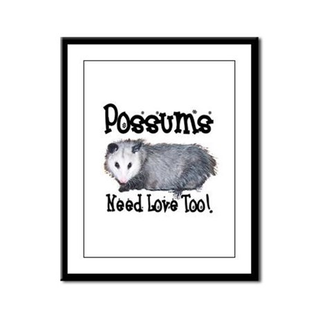Possums Need Love Framed Panel Print