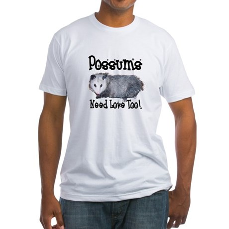 Possums Need Love Fitted T-Shirt