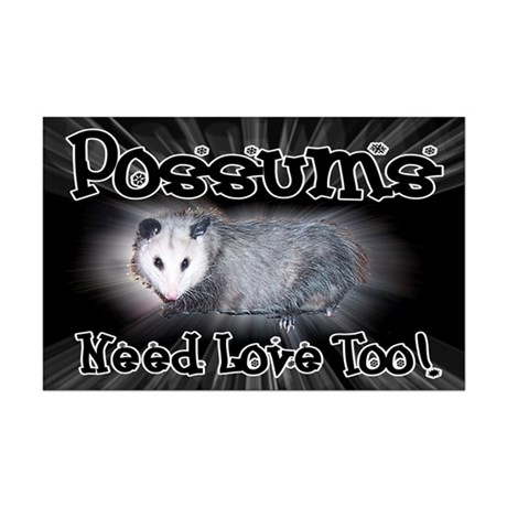 Possums Need Love Mini Poster Print