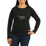 Cramps Suck Women's Long Sleeve Dark T-Shirt