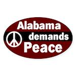 Alabama Demands Peace Oval Sticker