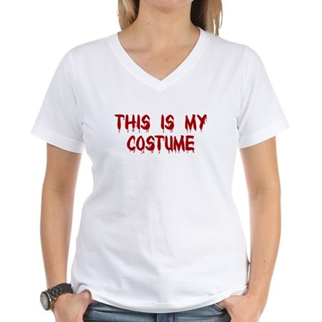 This is my Costume Women's V-Neck T-Shirt