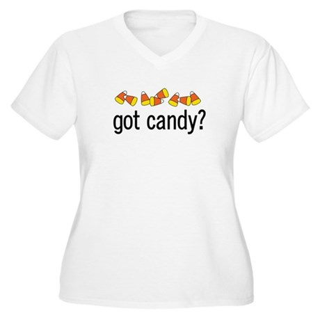 Got Candy? Women's Plus Size V-Neck T-Shirt