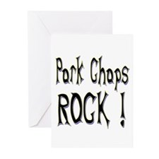 Pork Chops Rock ! Greeting Cards (Pk of 10)