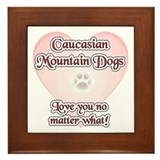 Caucasian Love U Framed Tile