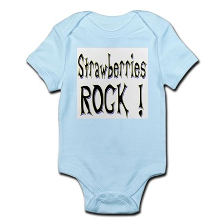 Strawberries Rock ! Infant Bodysuit