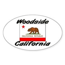 Woodside California Oval Decal