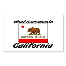 West Sacramento California Rectangle Decal