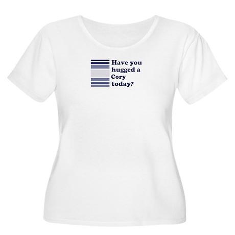 Hugged Cory Women's Plus Size Scoop Neck T-Shirt