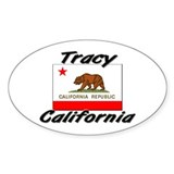 Tracy California Oval Decal