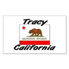 Tracy California Rectangle Decal