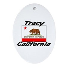 Tracy California Oval Ornament