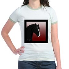 Black Horse (#6) Jr. Ringer T-shirt