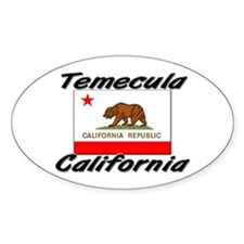 Temecula California Oval Decal
