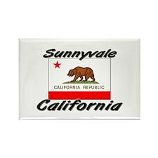 Sunnyvale California Rectangle Magnet