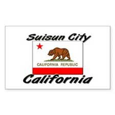Suisun City California Rectangle Decal