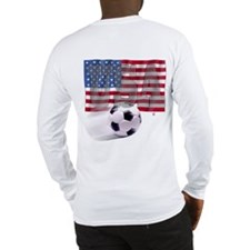 Soccer Flag USA (B) Long Sleeve T-Shirt