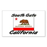 South Gate California Rectangle Decal