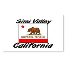 Simi Valley California Rectangle Decal