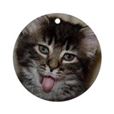 Kitten Bleh! Ornament (Round)