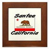 Santee California Framed Tile