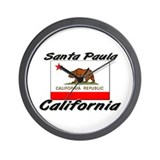Santa Paula California Wall Clock