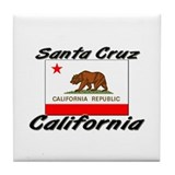Santa Cruz California Tile Coaster