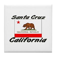 Santa Cruz California Tile Coaster