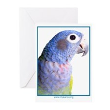 Blue-Headed Pionus - Greeting Cards (6)