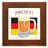 German Beer Prost Framed Tile