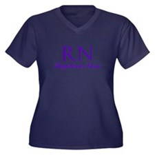 Registered Nurse Women's Plus Size V-Neck Dark T-S