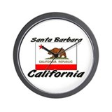 Santa Barbara California Wall Clock
