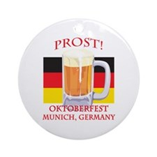 Munich Germany Oktoberfest Ornament (Round)