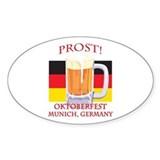 Munich Germany Oktoberfest Oval Decal