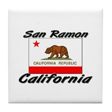 San Ramon California Tile Coaster
