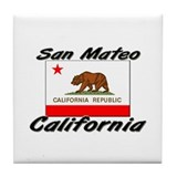 San Mateo California Tile Coaster