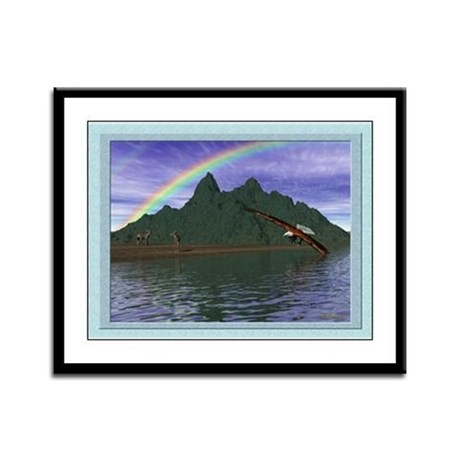 The Lord is My Shepherd 12x9 Framed Print