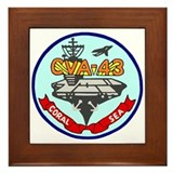 USS Coral Sea (CVA 43) Framed Tile