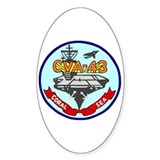 USS Coral Sea (CVA 43) Oval Decal