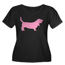 Pink Basset Hound T