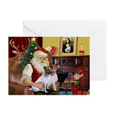Santa's JRT Greeting Cards (Pk of 20)