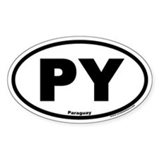 Paraguay PY Euro Style Oval Decal