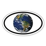 Earth Planet Oval Decal