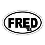 Fred Thompson '08 Oval Decal